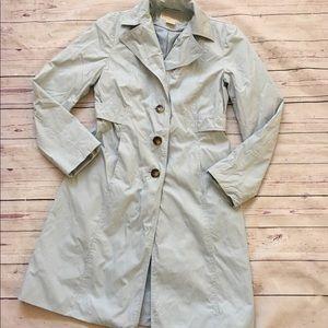 Michael Kors Pastel blue trench coat sz XS